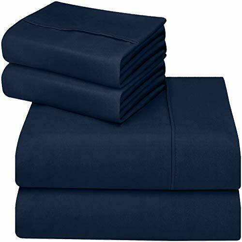 Flex King Bed Sheets Set Top Head Split Bedding 4 Piece Deep Pocket Fits Sleep