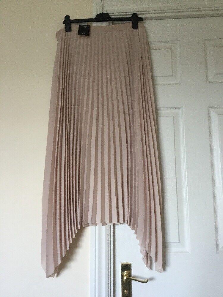 BNWT MARKS & SPENCER AUTOGRAPH Pleated Midi Skirt Größe 16