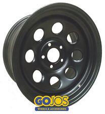 x4 16x7 MATTE BLACK GOJO'S SOFT 8 STEEL WHEELS - 5x120 CB65.1 ET30 - VW AMAROK
