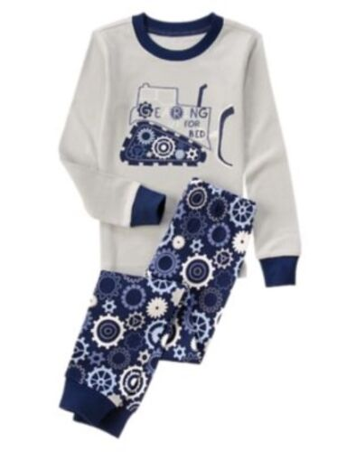 GYMBOREE SLEEPWEAR Gearing up for bed 2pc PAJAMAS GYMMIES 12 18 24 10 NWT