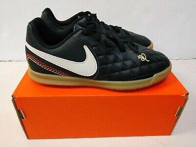 NIB Youth Nike Jr Legend 7 Club IC Indoor Soccer Cleats Black Black AH7260 001