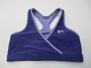 UNDER ARMOUR Women's Size XS Reversible Running Purple Compression Sports Bra