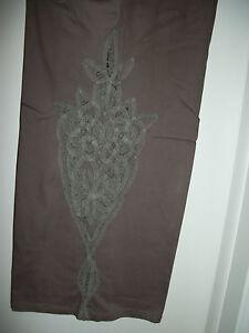 Stretch Størrelse Slacks 24 Lace Broderede Brown Denim Kvinders 32wp 7 Bukser xR44zB