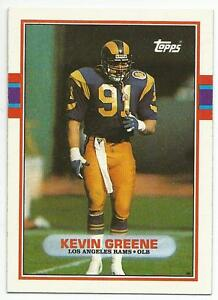 new styles 3bdef a5a15 Details about KEVIN GREENE 1989 Topps Football card #134 Los Angeles Rams  Steelers NR MT
