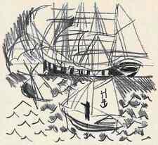 Raoul Dufy pescherecci - 1953-ORIG. litografia dalla suite Illuminations