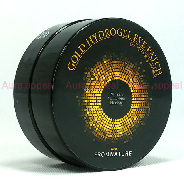 From Nature Gold Hydrogel Eye Patch 60 sheets Korea Smile Line Diamond Dust Care