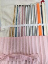 Large Lot Of Vintage Knitting Needles And Carry Case Boye Susan Bates