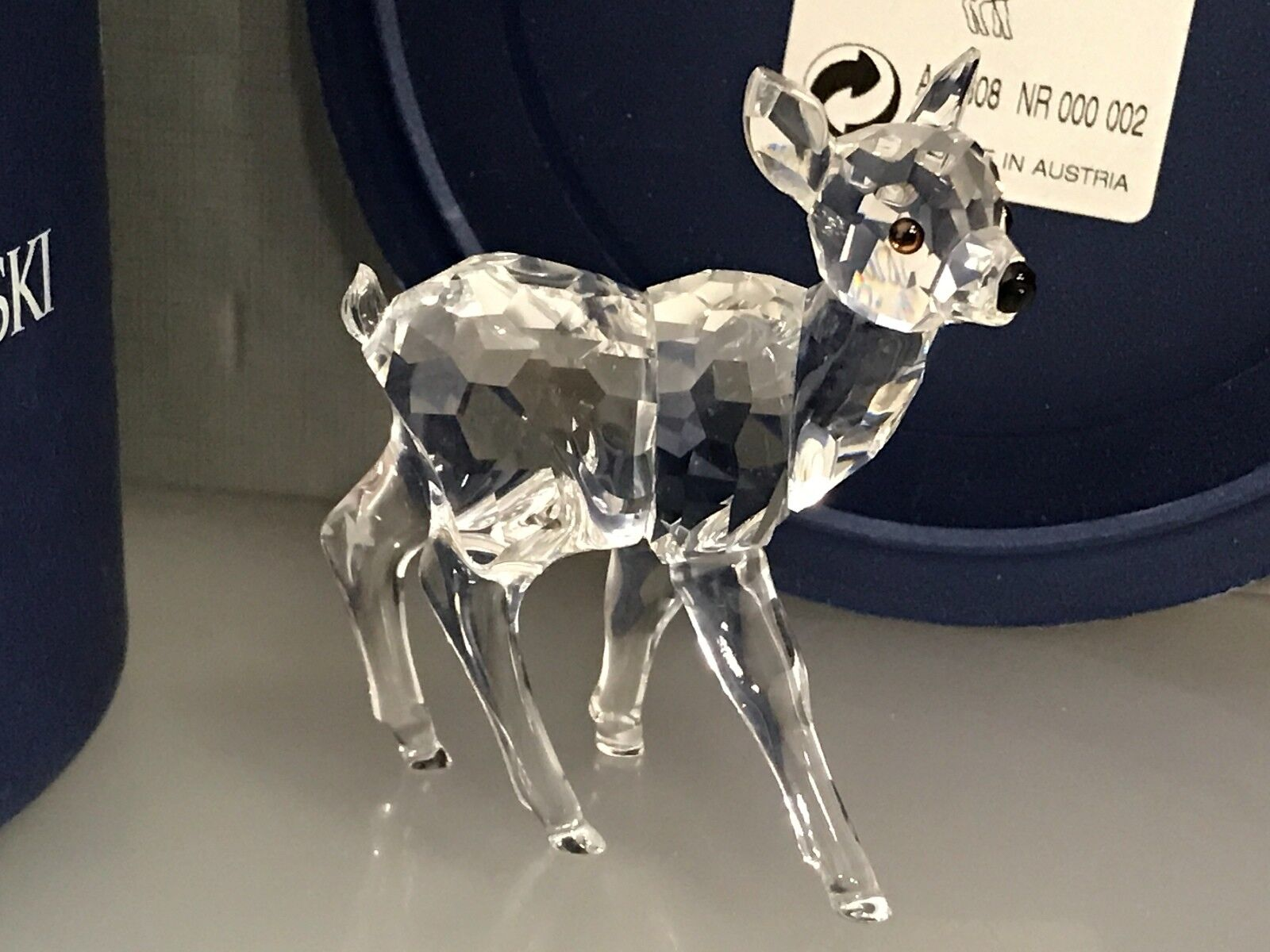 Swarovski Figurine biche petits 6,5 cm cm 6,5 avec neuf dans sa boîte & certificat. Excellent état c86caa