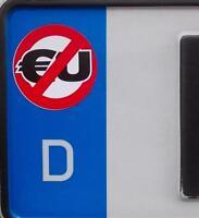 2x Nummernschild / Kennzeichen Etiketten Aufkleber für EU-Feld (Deutsches Reich)