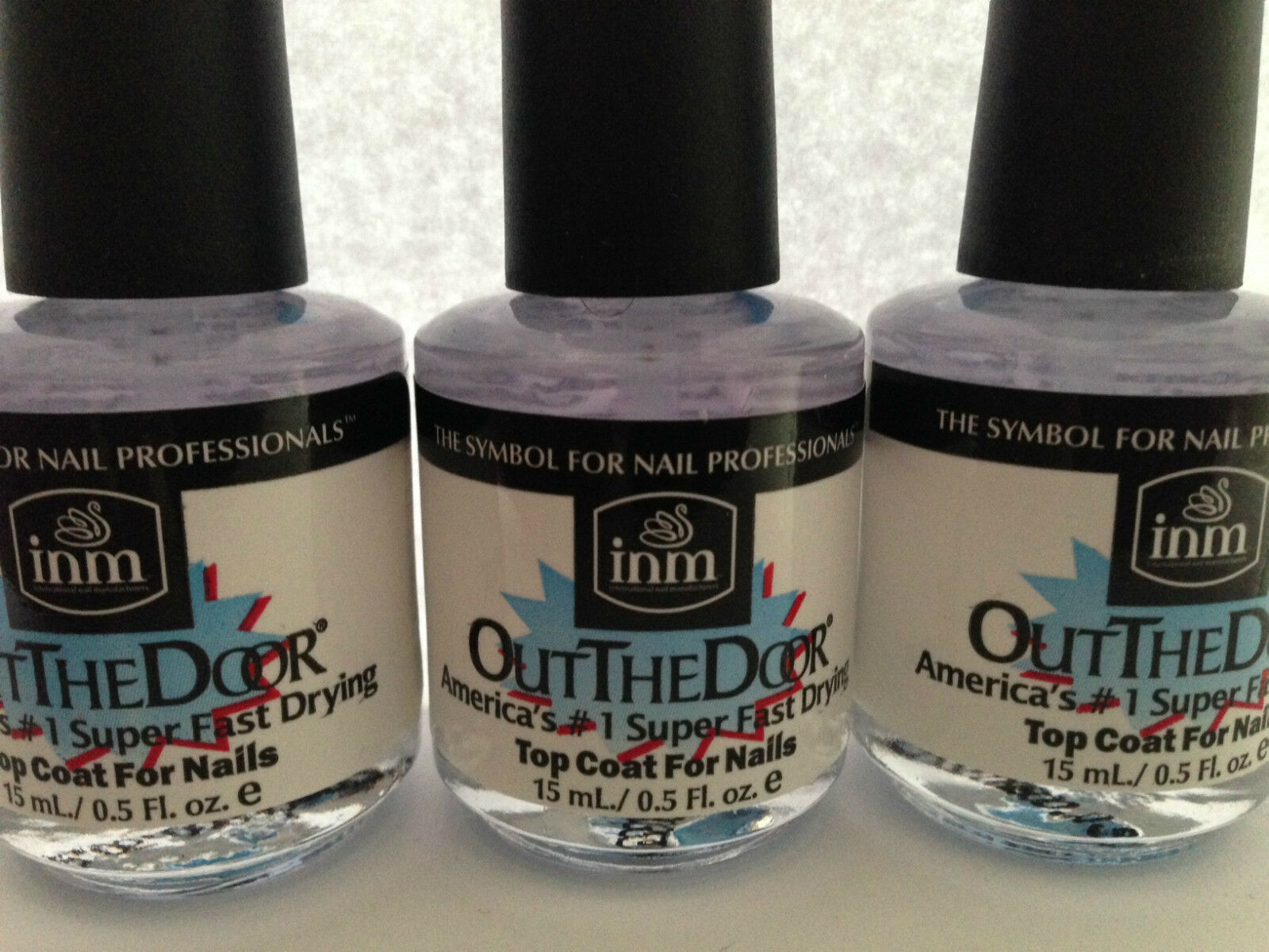 INM out The Door Super Fast Drying Top Coat 15ml Bottle   eBay