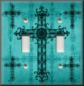 Image Is Loading Metal Light Switch Plate Cover Old World Crosses