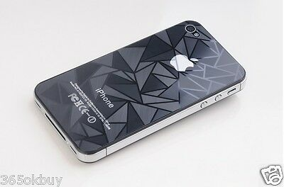 3D Diamond&Water Cube screen protector iphone 4/4s Guard film sticker Front&back