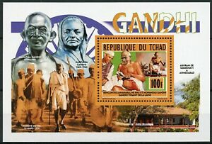 Chad-2013-MNH-Mahatma-Gandhi-1v-Deluxe-M-S-People-Historical-Figures-Stamps