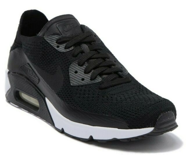 Nike Air Max 90 Ultra 2.0 Flyknit Sneaker Men's Shoes BLACK 875943 004 Size 8