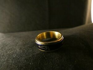 Ring-24-Karat-Vergoldet-Fuss-Blau-Gold-Damen-Schmuck-Foot-Zehen-Ring