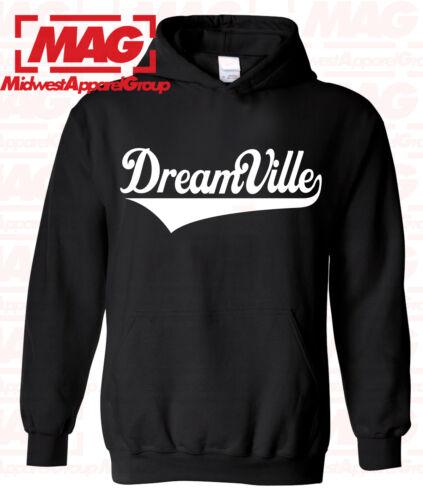 DREAMVILLE BLACK HOODIE J Cole World Born Sinner Hooded Sweatshirt Rocnation Usa