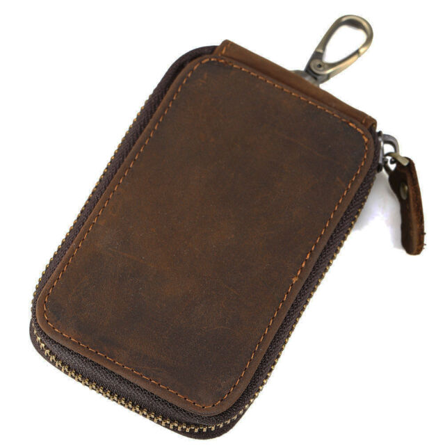 Women/'s Men/'s Leather Key Holder Wallets Bag Key Case Credit Card Purse AN67