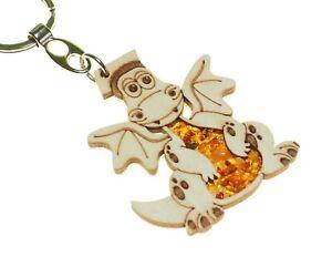 Schlüsselanhänger Taschenanhänger Bernsteinbärchen mit Herz