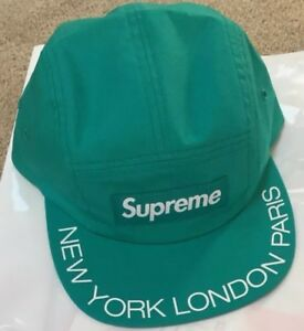 1e09743d0c1 SUPREME New York Visor Print Camp Cap Hat Aqua Sold Out!!! New 2018 ...