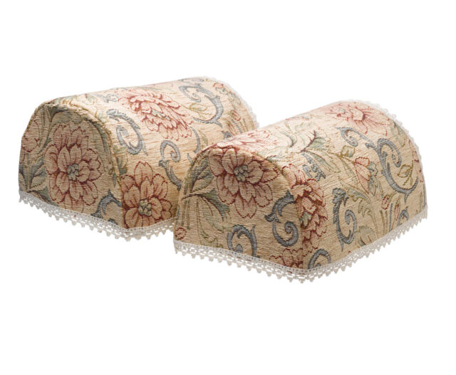 Wondrous Round Arm Caps Pair Pink Flower Traditional Tapestry Sofa Chair Cover Lace Trim Pabps2019 Chair Design Images Pabps2019Com