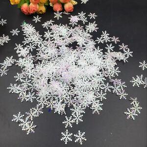 300pcs-Classic-Shiny-Snowflake-Ornaments-Christmas-Tree-Holiday-Party-Home-Decor