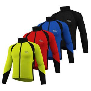 Cycling-Jacket-Wind-stopper-Winter-Thermal-Fleece-Windproof-Long-Sleeve-Coat-NEW