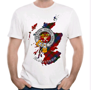 Robertson Clan T-Shirt - Scottish Heritage Clothing - Scotland Cotton Tee