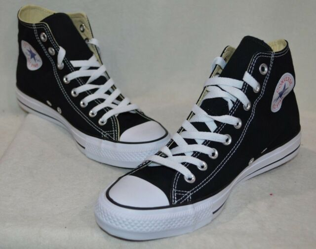 Converse Chuck Taylor All Star Hi Tops Black White Mens Sneakers Shoes M9160
