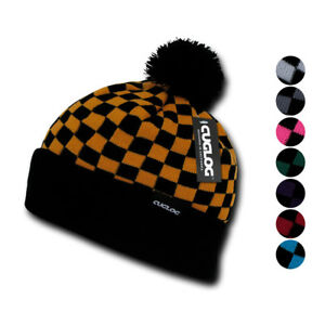 0007cca230e Image is loading Cuglog-Changbai-Checker-Flag-Style-Winter-Cuffed-Beanies-