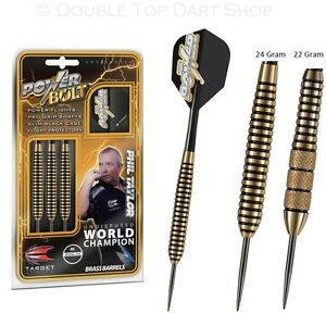 Phil-Taylor-Power-Bolt-Brass-Steel-Tip-Darts-by-Target-Knurled-Ringed