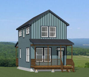 16x28 House PDF Floor Plan 814 sq ft Model 5C