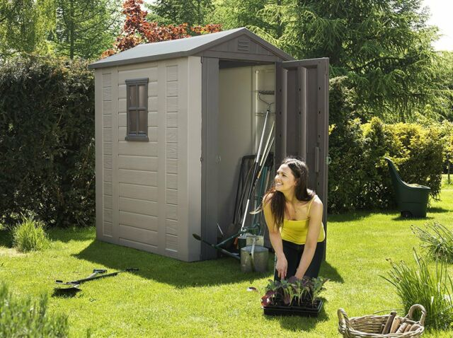 Backyard Storage Shed 4 x 6 ft Garden Mower Booth Hut Stall Box Shack  Shelter In