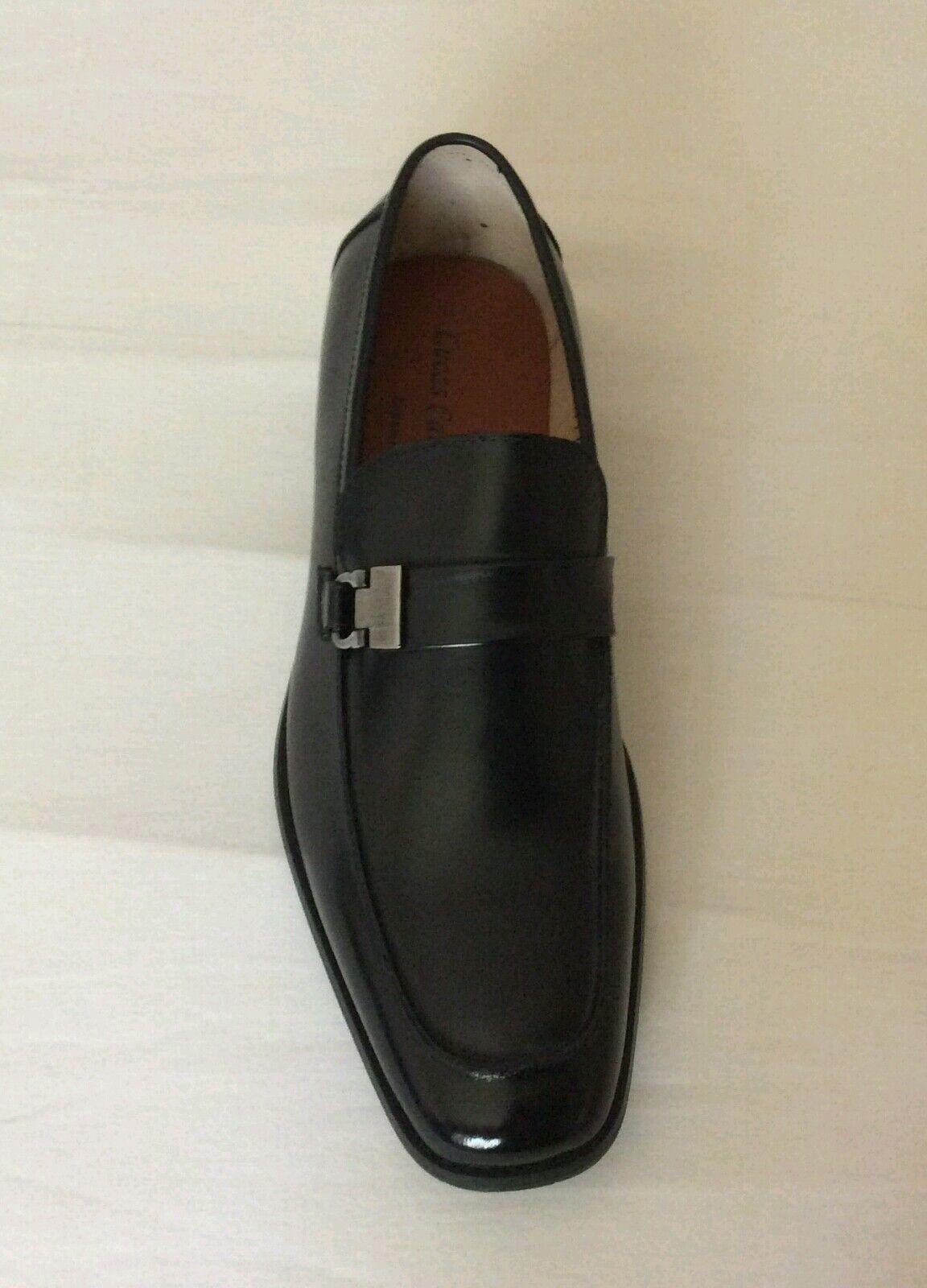 Men's black dress shoes genuine leather Italian fashion comfort by Lucas Cabaggi