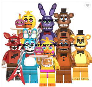 8-pcs-Minifigures-lego-MOC-Five-Nights-At-Freddy-039-s-Ballonboy-Chica-Freddy-Toys