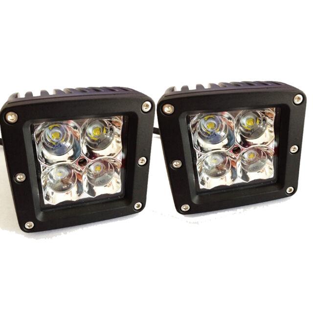 2 x 20W CREE LED Dually Cube Flood Fog Driving Light For Off Road Bar ATV Truck