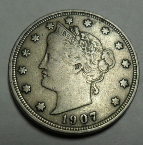 """1907 P LIBERTY HEAD /""""V/"""" NICKEL  *AG OR BETTER*  **FREE SHIPPING**"""