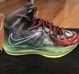 wholesale dealer ad5f6 e3c3b Details about NIKE LEBRON 10 X JOKER CUSTOM KICKASSO US SZ 10.5 JAMES  BASKETBALL SHOES JAMES