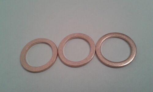3 Stück Kupferdichtring  Dichtung Kupfer 10x14x1 mm DIN 7603  Form A