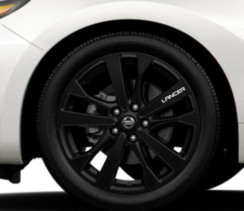 6x Alloy Wheels Stickers Fits Mitsubishi Lancer Graphics Vinyl Decals RD50