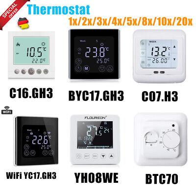 100/% Neu Smart Thermostat Raumthermostat Fußbodenheizung Touchscreen LCD Anzeige