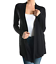 Sofra-Women-039-s-Open-Front-Soft-Draped-Long-Sleeve-Cardigan-Sweater-Longline-Tunic thumbnail 3
