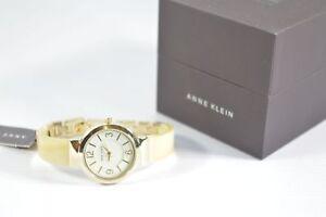 Anne-Klein-AK2476HNGB-Horn-Resin-White-Dial-Ladies-Watch