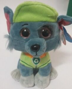 PELUCHE TY ROCKY 15 CM. PAW PATROL THE BEANIE BOO O COLLECTION  88034cb87fb