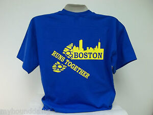 Boston-Runs-Together-Marathon-T-Shirt-Printed-Front-and-Back