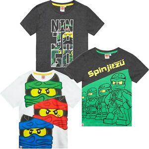 a36e27c2 Lego Ninjago Movie Original Boys Short Sleeve Cotton Tops T-Shirts 3 ...