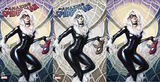 Spiderman 25 Artgerm COMICXPOSURE Virgin 3 Pack Variant Set Black Cat