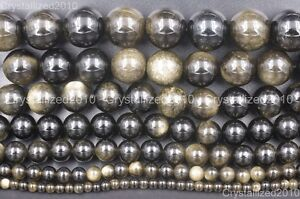 Natural-Golden-Obsidian-Gemstone-Round-Beads-4mm-6mm-8mm-10mm-12mm-16mm-15-5-034