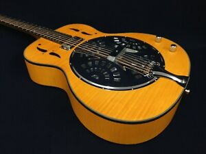 Haze Flame Maple Resonator/Dobro Guitar w/Humbucker Pickups+Free Gag SDG-727EQ