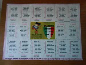 Calendario Campionato Di Calcio.Dettagli Su Calendario Campionato Di Calcio 62 63 Ritaglio Clipping Dal Corriere Dei Piccoli