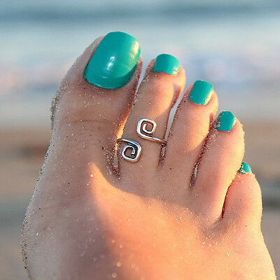 New Women Fashion Simple Retro Toe Ring Adjustable Foot Beach Jewelry Newest